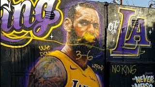 Lakers Fans Destroy LeBron James Mural In Los Angeles