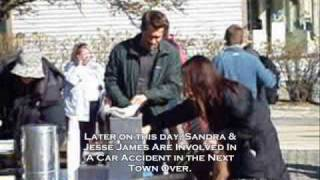 Sandra Bullock & Ryan Reynolds on The Proposal Movie set - Rockport MA