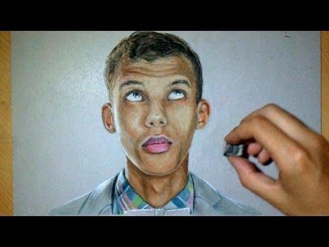 Dessin Realiste Stromae Portrait Youtube