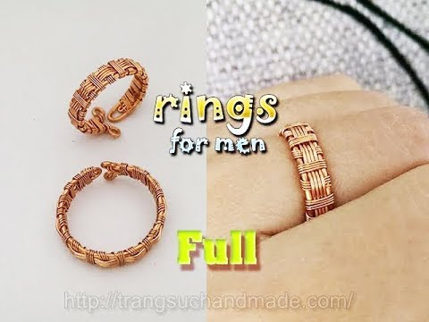 Couple rings part 1 - rings for men from copper wire - full version ( slow ) 328