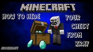 Minecraft How to hide your chest from X-ray and chest finder l Punified l