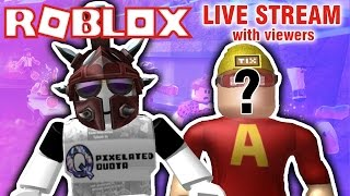 ROBLOX LIVE STREAM w/ VIEWERS! | Prison Life, Phantom Forces, Meepcity, & more! {EPISODE 54}