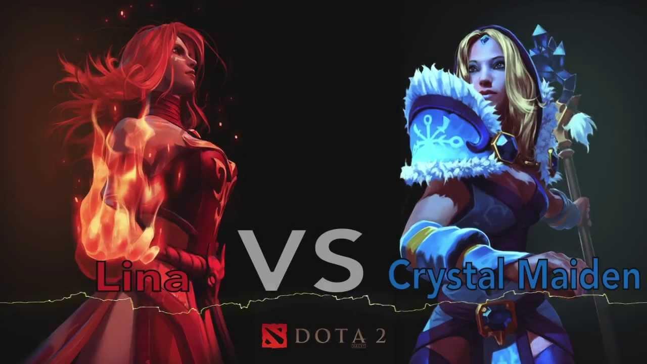 dota 2 rap battle lina vs crystal maiden youtube