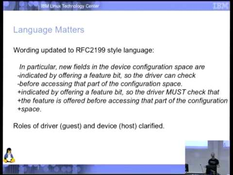 VirtIO 1 0: A Standard Emerges [linux conf au 2014]