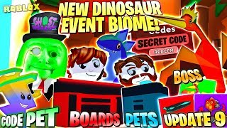 NEW DINOSAUR EVENT ! CODES ! TRADE SYSTEM ! CRATES 👻 Ghost Simulator DINO World Update 9 Roblox PRO
