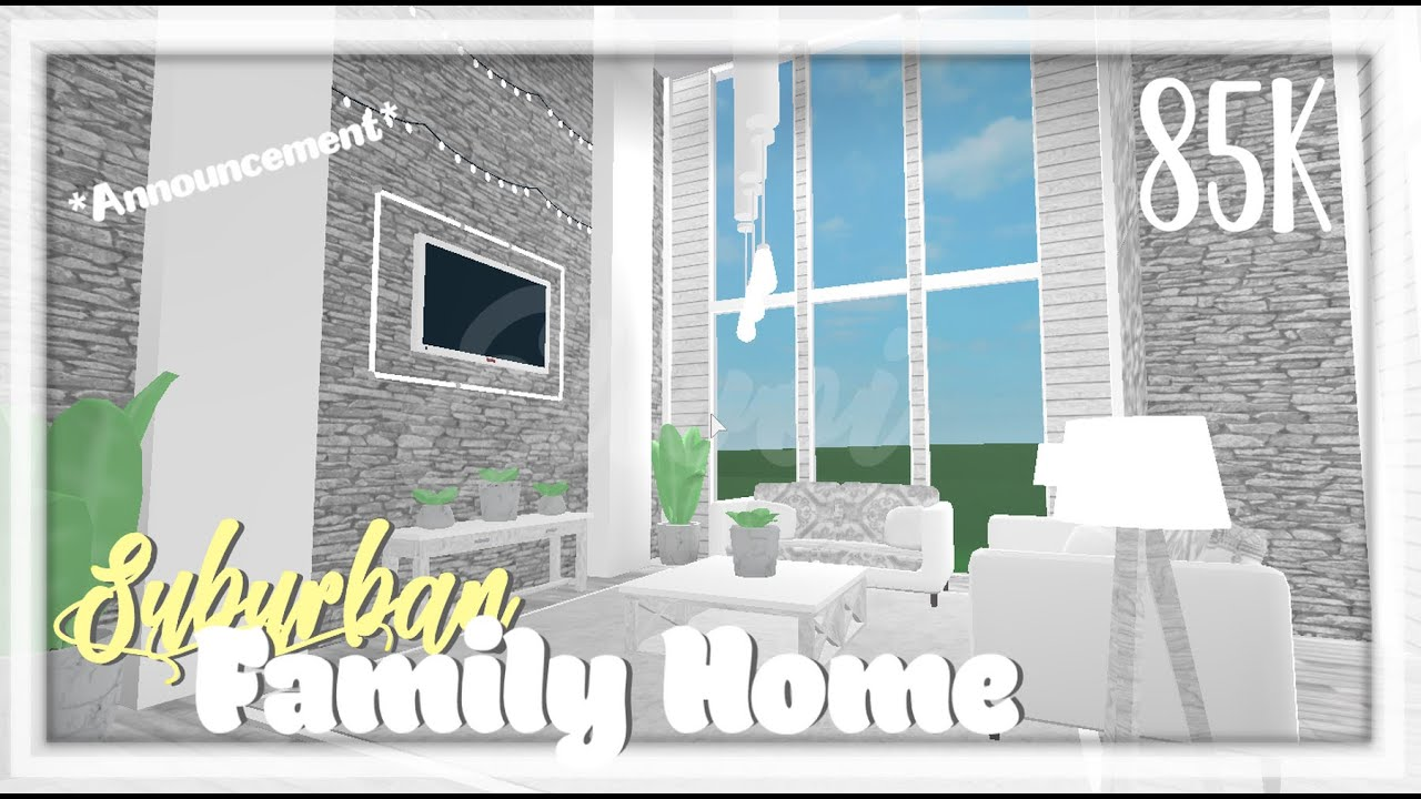 Roblox Welcome To Bloxburg 85k All White Suburban Aesthetic
