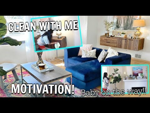 CLEAN WITH ME  GETTING READY FOR BABY CLEANING MOTIVATION
