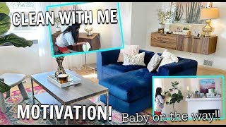 CLEAN WITH ME | GETTING READY FOR BABY! CLEANING MOTIVATION