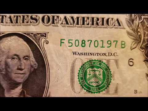 HEAVY INK 2017 $1 Federal Reserve Note - Bill Searching Series
