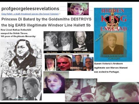 Princess Di Goldsmiths & the big EARS illegitimate Windsor Line Hallett 5b