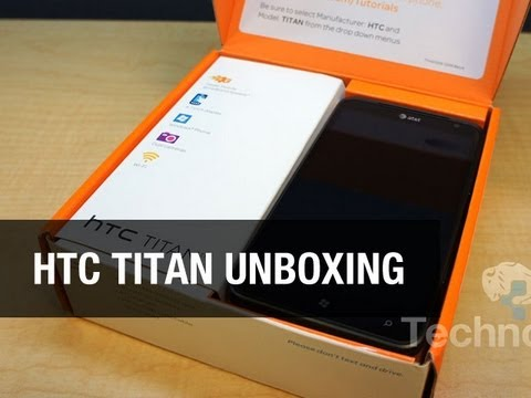 HTC Titan for AT&T Unboxing - Biggest Windows Phone!