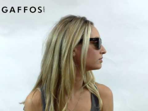 391765e11f Ray Ban RB2132 New Wayfarer 901 58 Black Polarized Sunglasses - YouTube