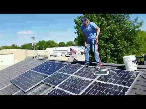 CLEANING THE SOLAR ARRAYS FOR THE PIP242424LV-MSD By:jwsolarusa