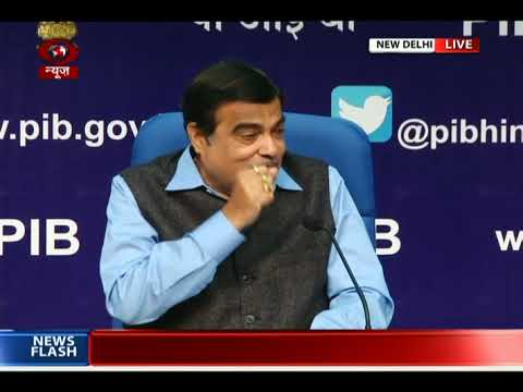Union Transport Minister Nitin Gadkari addresses media in New Delhi