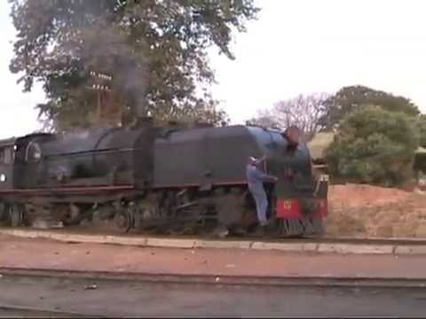 Zimbabwe - Garratts on freight & passenger stock 2005