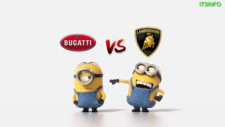Bugatti vs Lamborghini Minions Style ( Funny Minions)