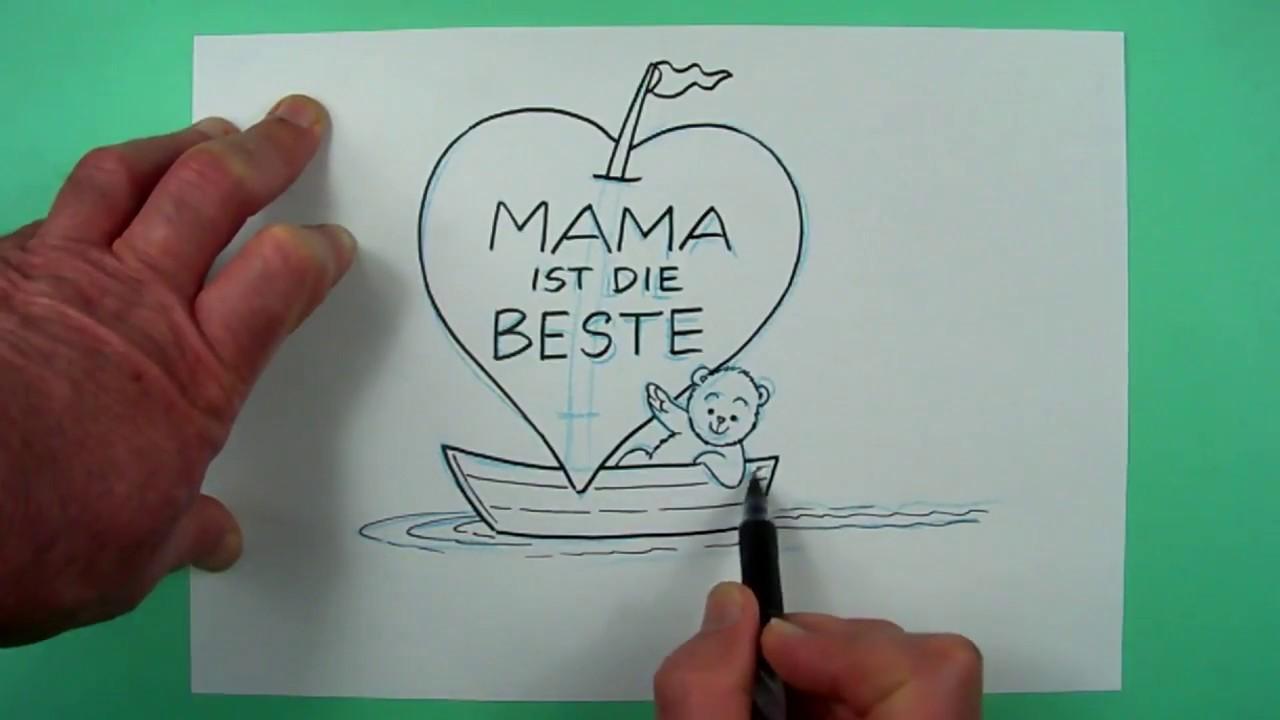mama ist die beste zeichnen f r kinder und jedem dem es spa macht youtube. Black Bedroom Furniture Sets. Home Design Ideas