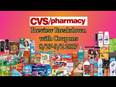 CVS Preview Breakdown with Coupons 8/27-9/2 2017