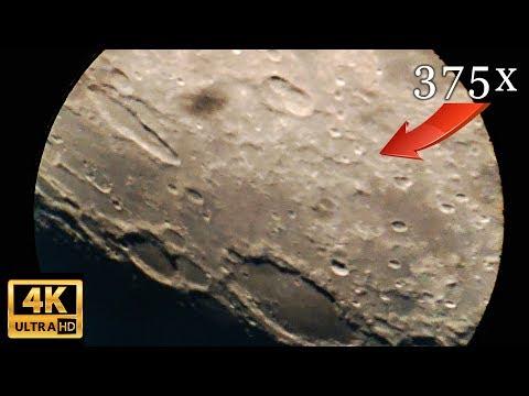 ЛУНА в 4К ▶ ВИД В ТЕЛЕСКОП с увеличением 375х Moon 4k Video