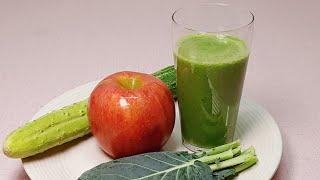 케일주스 만드는법/몸 속 독소를 배출시키는 케일 사과주…
