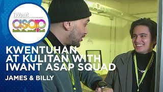Backstage Kulitan with Billy Crawford and James Reid | iWant ASAP sa Rome | Highlights