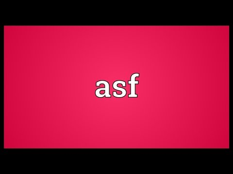 Asf Meaning