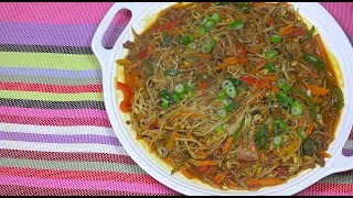 Ginisang Togue - Ground Beef with Bean sprouts - Beansprouts & Beef - Pinoy Recipes - Filipino Food
