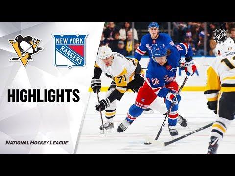 NHL Highlights   Penguins @ Rangers 11/12/19