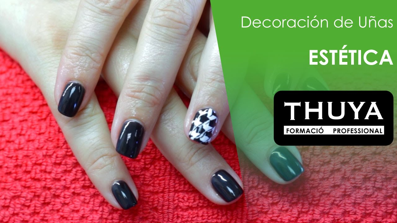 Nail Art: Pata de gallo para tus uñas - YouTube