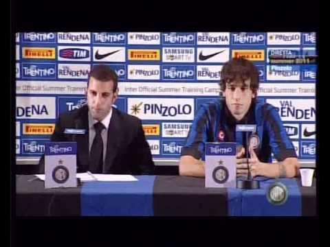 Presentazione Ricky Alvarez - Conferenza Stampa - Pinzolo 2011 - Inter Channel