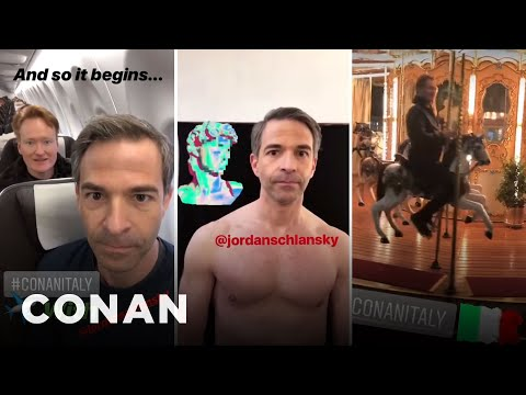 Conan & Jordan's Instagram Stories From #ConanItaly  - CONAN on TBS