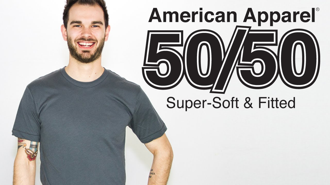 Custom american apparel 50 50 t shirt on a guy style for Custom 50 50 t shirts