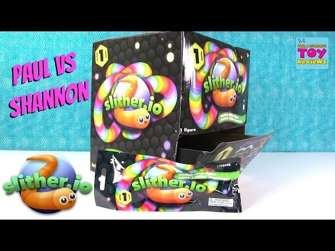 Slitherio Series 1 Mystery Slither Figure Blind Bag Opening Paul vs Shannon | PSToyReviews