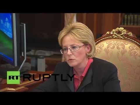 Russia:Skvortsova informs Putin of 2015-2016 health budget, increase in birth rate