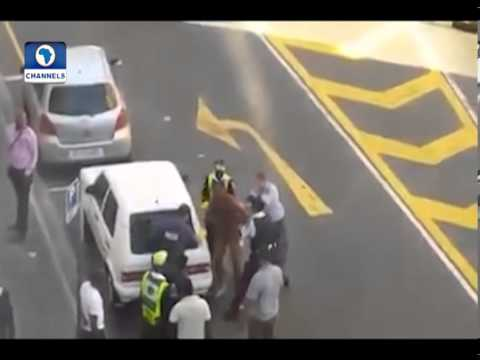 Brutal South African Police Strip, Beat Nigerian