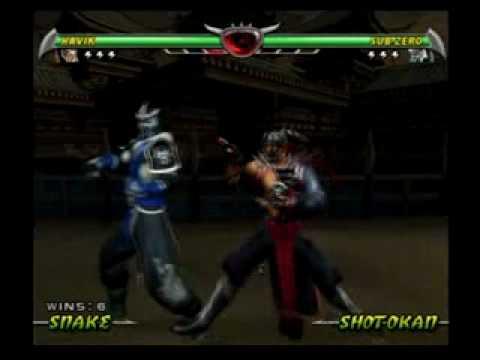 Mortal Kombat Deception - All Death Traps On Sub-Zero