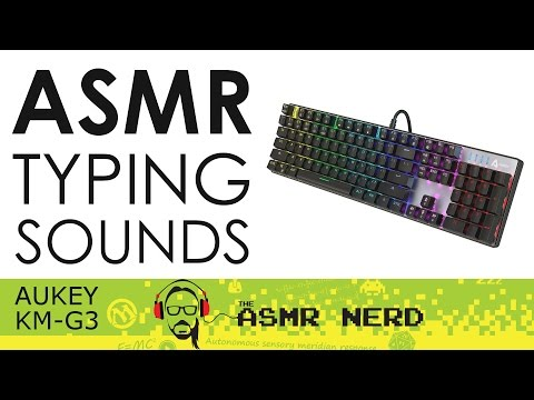 ASMR Typing Sounds: Aukey KM-G3 Mechanical Keyboard with Blue Switches (No Talking)