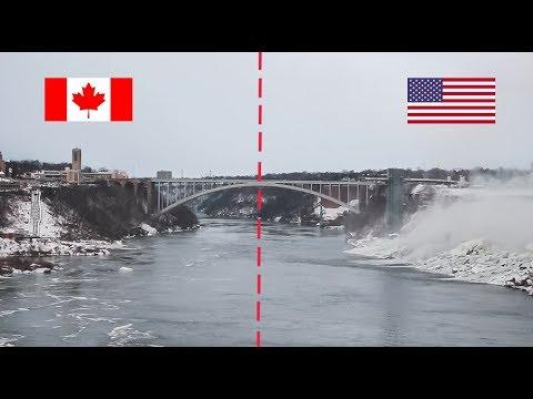 MI PRIMERA VEZ En Norte America...  // Explorando Las Cataratas Del Niagara, La Frontera USA/Canada
