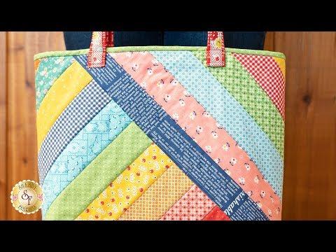 Quilt-As-You-Go Alexandra Tote Bag | A Shabby Fabrics Tutorial
