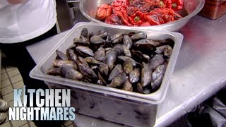 Restaurant Has A Box Of DEAD, Open, Dirty Mussels   Kitchen Nightmares