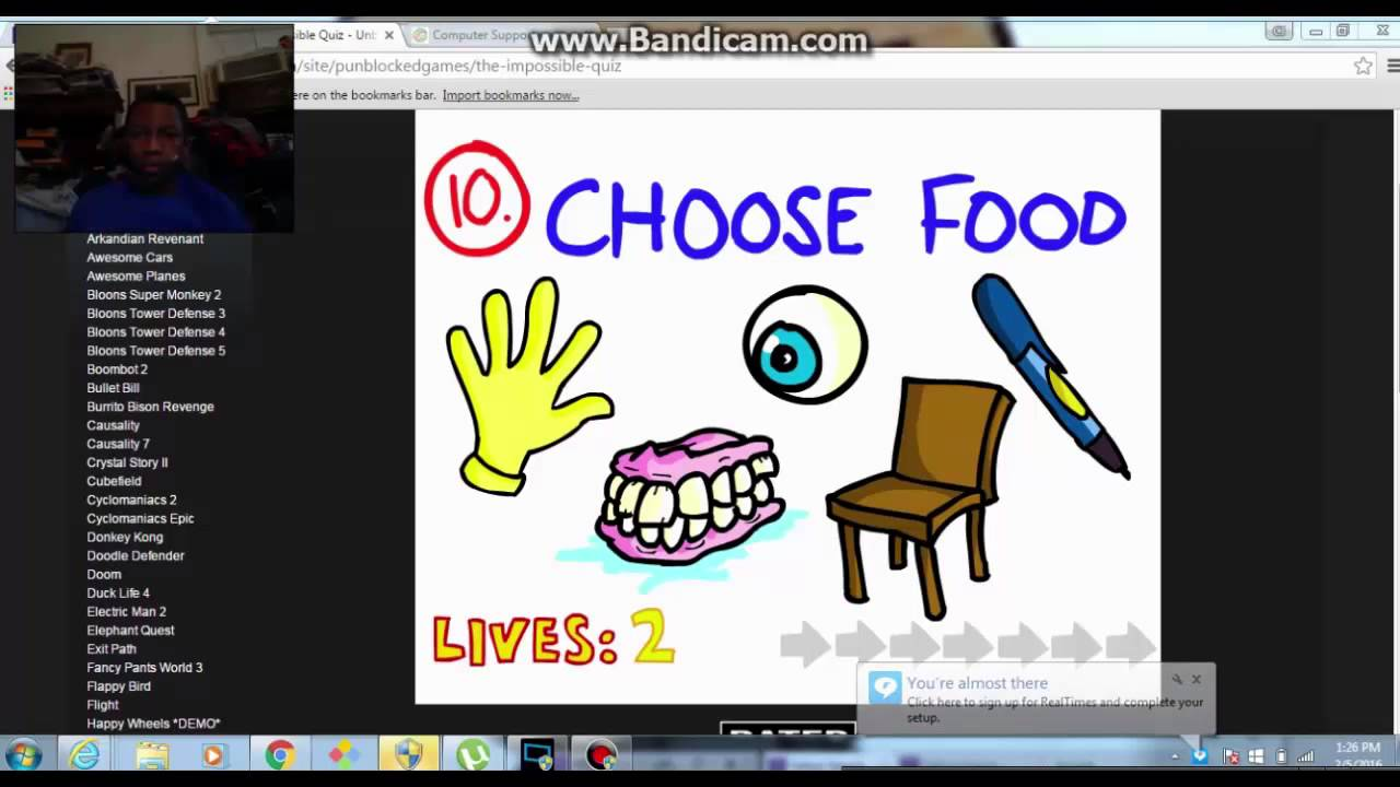 The Impossible Quiz Unblocked Games Youtube