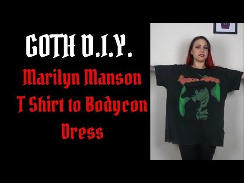 Goth DIY - Marilyn Manson T Shirt to Bodycon Dress