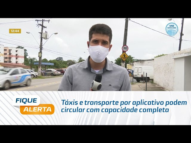 Táxis e transporte por aplicativo já podem circular com capacidade completa em Maceió