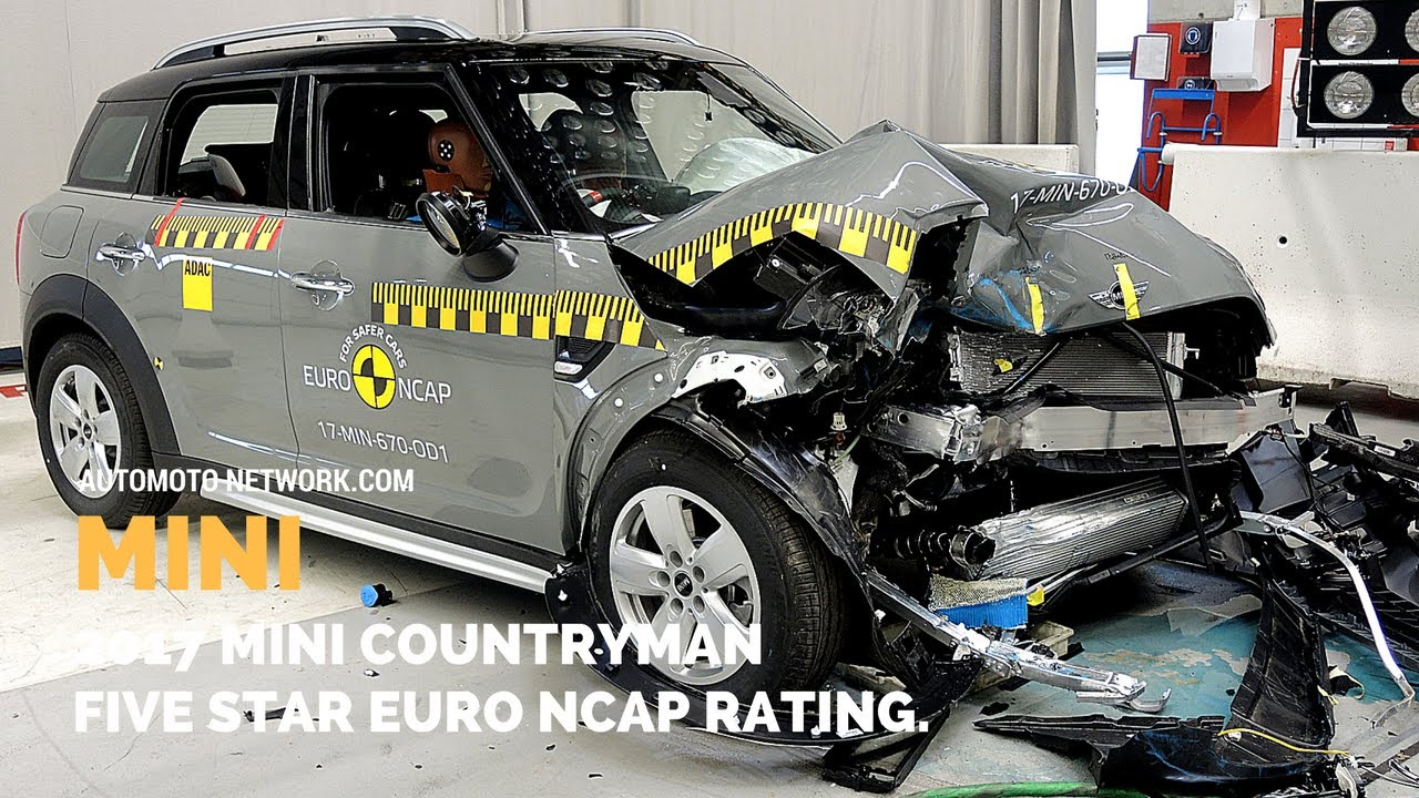 2017 Mini Countryman Crash Test Five Star Euro Ncap Safety Rating