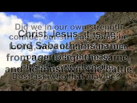 A Mighty Fortress is our God | With Lyrics