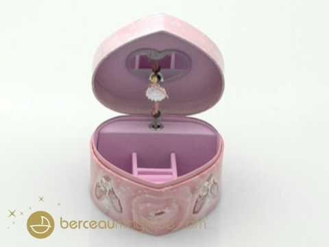 grande bo te bijoux musicale coeur ballerine rose trousselier youtube. Black Bedroom Furniture Sets. Home Design Ideas