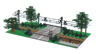 LEGO Train - Passage à niveau --  Railroad Crossing MOC - v5.0