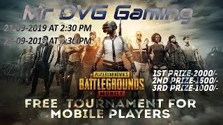 PUBG Mobile Kannada Live stream Games New Channel Mr DVG Gaming