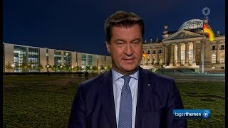 Markus Söder zum Asylstreit mit Merkel und der CDU