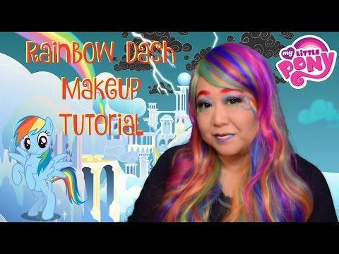 🌈 My Little Pony -  Rainbow Dash -  Makeup Tutorial 🌈